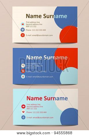 Abstract Colorful Business Cards, Illustration