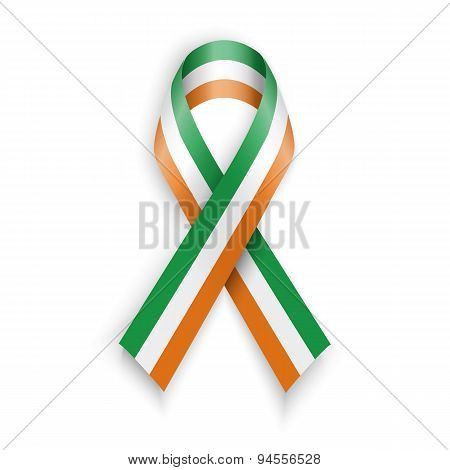 Ireland Flag. Abstract Irish Ribbons