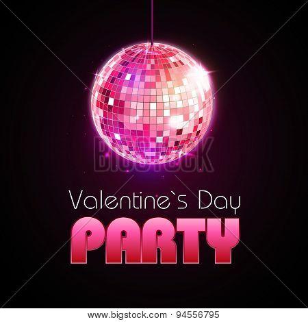 Valentine Disco Poster
