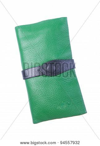 Wallet Or Purse Woman (green Colour) On A Background.