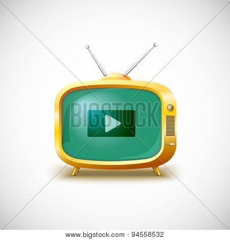 Video player. Vector illustration.