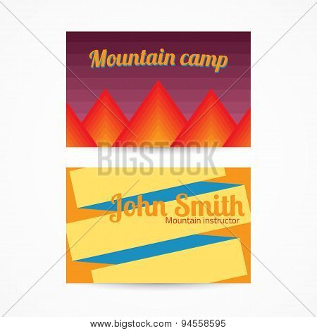 Template card with mountains
