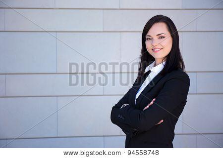 Portrait Of Beautiful Woman In Business Suit