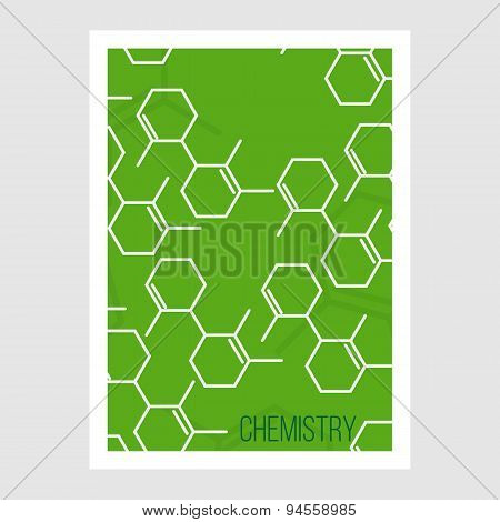 Science Brochure Flyer design template. Vector illustration