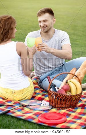 Couple in picnic