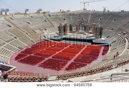 Italy,  Veronese Amphitheater (arena Di Verona).