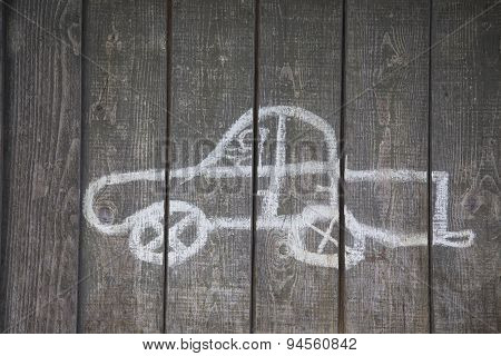 Childs Drawing Of A Car