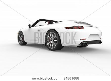 Back Of A Generic White Sport Car