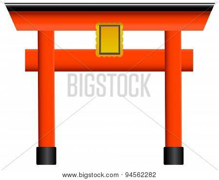 Traditional Torii gate vector