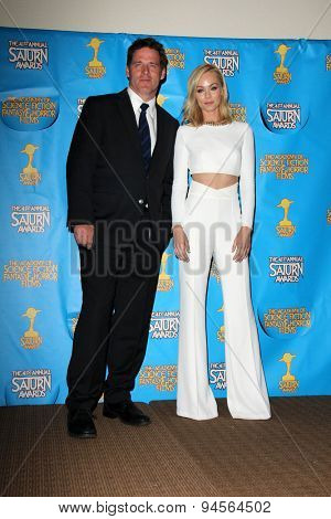 LOS ANGELES - JUN 25:  Ben Browder, Laura Vandervoort at the 41st Annual Saturn Awards Press Room at the The Castaways on June 25, 2015 in Burbank, CA