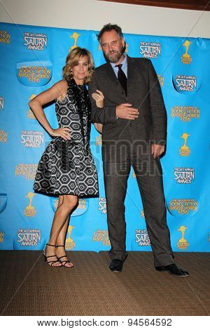 LOS ANGELES - JUN 25:  Catherine Mary Stewart, Lance Guest at the 41st Annual Saturn Awards Press Room at the The Castaways on June 25, 2015 in Burbank, CA