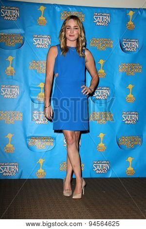 LOS ANGELES - JUN 25:  Caity Lotz at the 41st Annual Saturn Awards Press Room at the The Castaways on June 25, 2015 in Burbank, CA