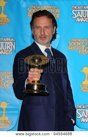 LOS ANGELES - JUN 25:  Andrew Lincoln at the 41st Annual Saturn Awards Press Room at the The Castaways on June 25, 2015 in Burbank, CA