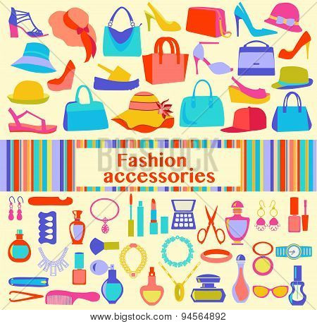 Background  Of  Fashion Women Accessories