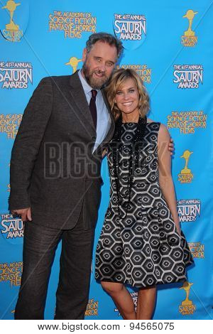 LOS ANGELES - JUN 25:  Lance Guest, Catherine Mary Stewart at the 41st Annual Saturn Awards Arrivals at the The Castaways on June 25, 2015 in Burbank, CA