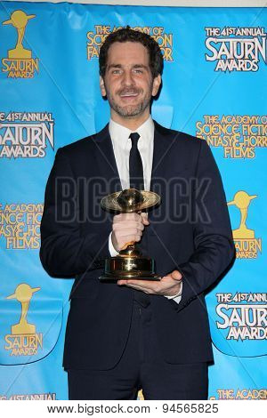 LOS ANGELES - JUN 25:  Aaron Abrams at the 41st Annual Saturn Awards Press Room at the The Castaways on June 25, 2015 in Burbank, CA