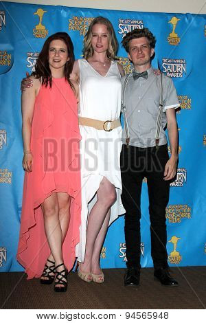 LOS ANGELES - JUN 25:  Magda Apanowicz, Rachel Nichols, Erik Knudsen at the 41st Annual Saturn Awards Press Room at the The Castaways on June 25, 2015 in Burbank, CA