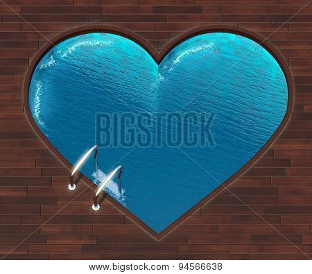 Shaped Pool Heart