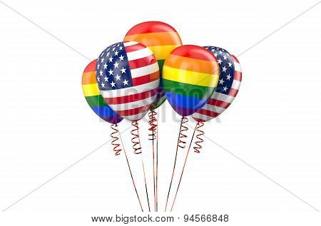 Legal Same-sex Marriages In Usa Concept
