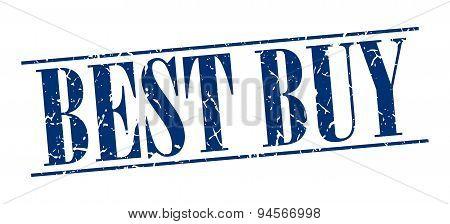 Best Buy Blue Grunge Vintage Stamp Isolated On White Background