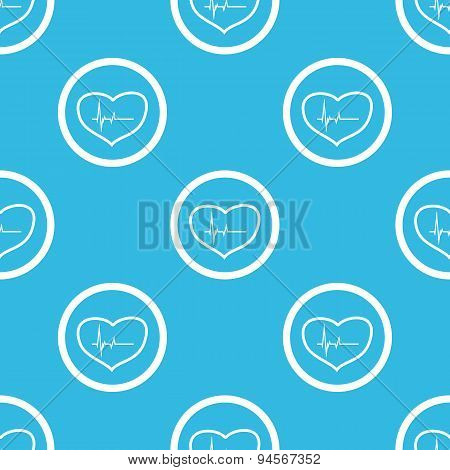 Cardiology sign blue pattern
