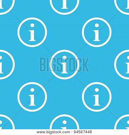 Information sign blue pattern