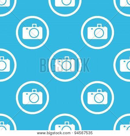 Camera sign blue pattern