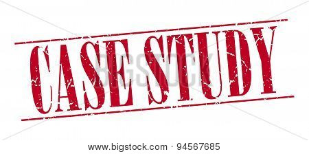 Case Study Red Grunge Vintage Stamp Isolated On White Background