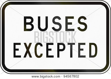 Buses Excepted In Australia