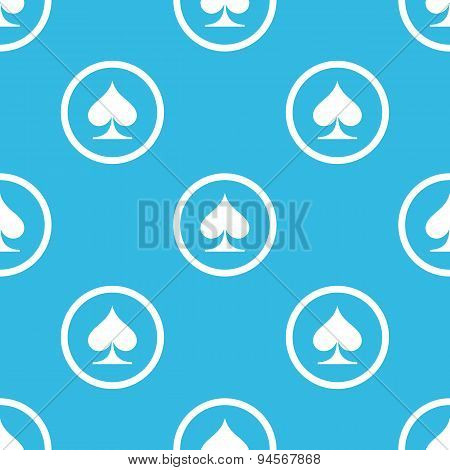 Spades sign blue pattern