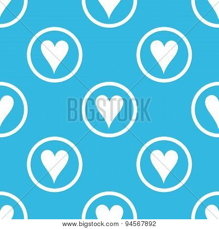 Hearts sign blue pattern