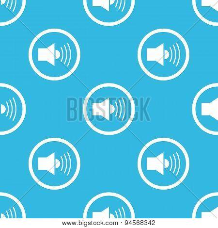 Loudspeaker sign blue pattern