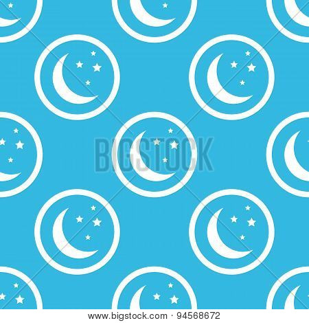 Night sign blue pattern