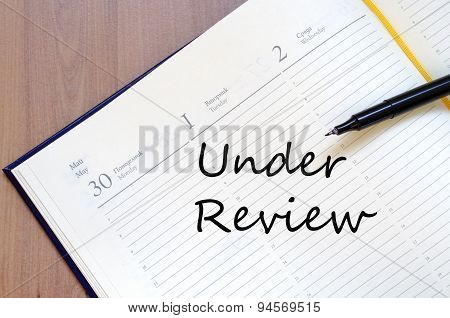 Under Review Concept Notepad