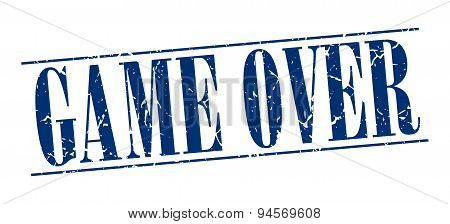 Game Over Blue Grunge Vintage Stamp Isolated On White Background
