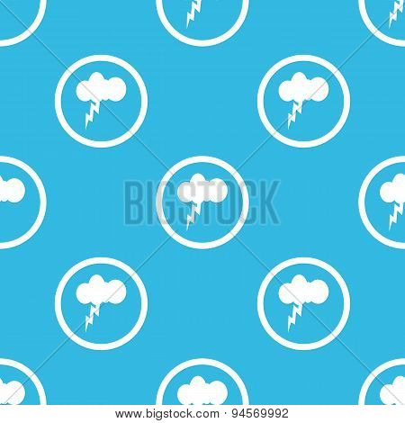 Thunderstorm sign blue pattern