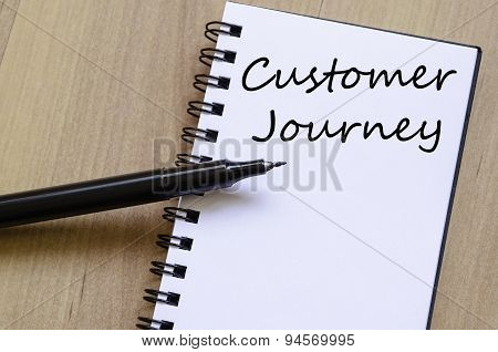 Customer Journey Concept Notepad