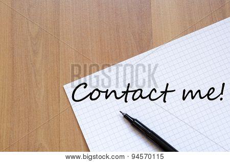 Contact Me Text Concept