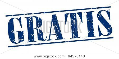 Gratis Blue Grunge Vintage Stamp Isolated On White Background