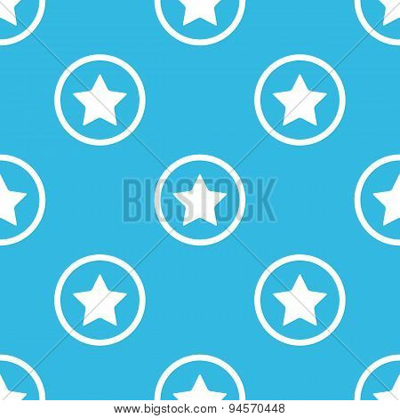 Star sign blue pattern
