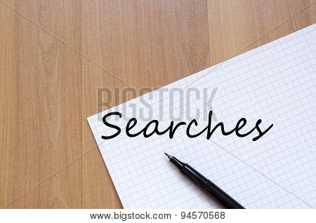 Searches Concept Notepad