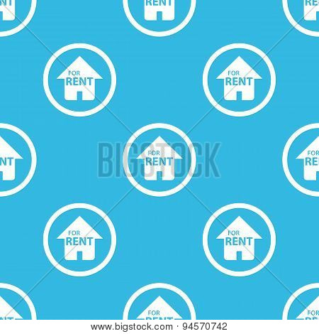 For rent sign blue pattern