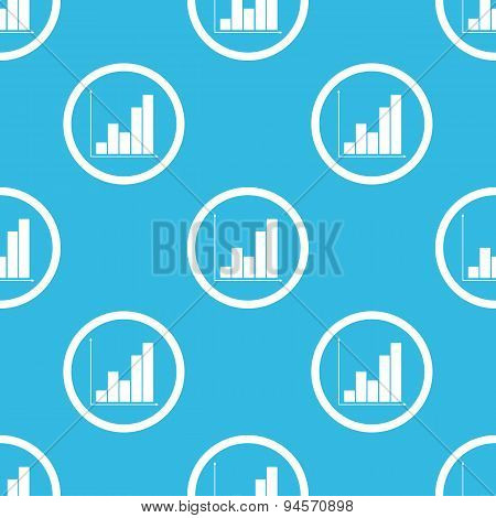 Graphic sign blue pattern