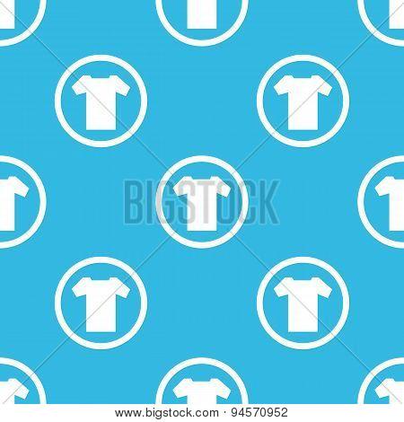 T-shirt sign blue pattern