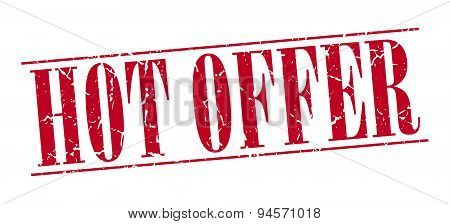 Hot Offer Red Grunge Vintage Stamp Isolated On White Background