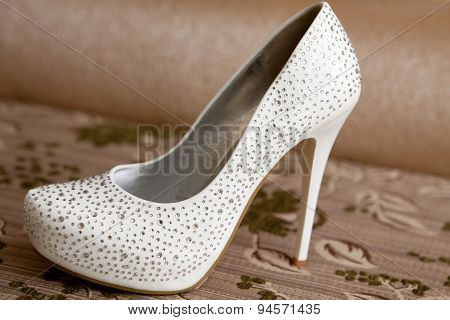 White shoes of the bride,
