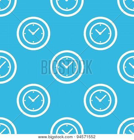 Clock sign blue pattern