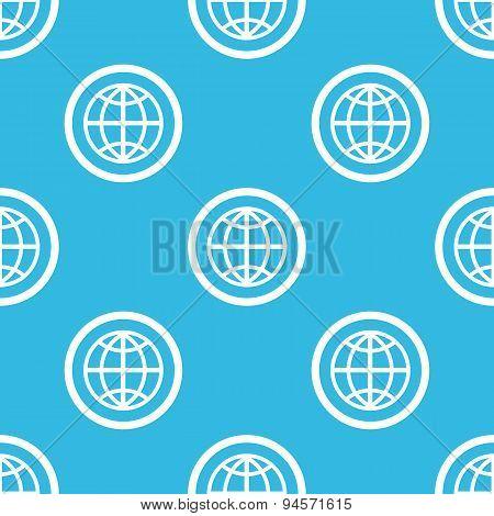 Globe sign blue pattern