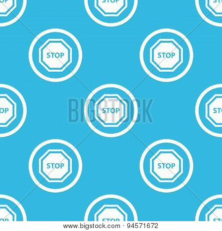 STOP sign blue pattern