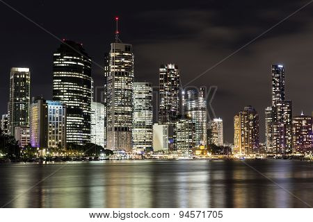 Brisbane City nightscape from Kangaroo Point